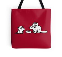 Simons Cat with baby Tote Bag