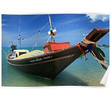 Koh Samui Fishing Boat Poster