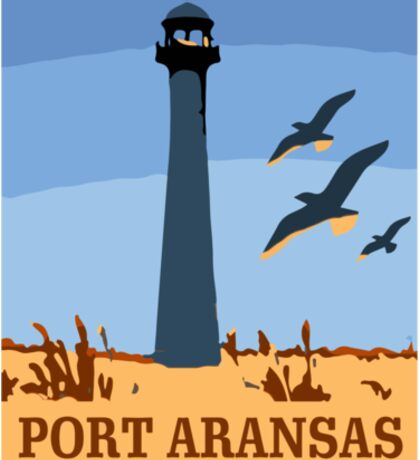 Port Aransas - Texas. Sticker