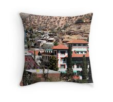 Bisbee, Arizona and Copper Queen Hotel Throw Pillow