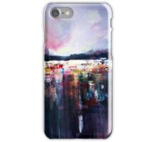 City lights in the rain iPhone Case/Skin