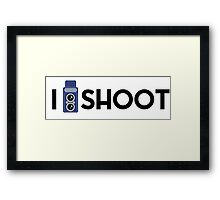 I shoot Framed Print