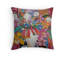 Orchids of Tuscany... Throw Pillow