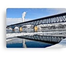 Peace River Bridge  Canvas Print