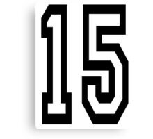 15, TEAM SPORTS, NUMBER 15, FIFTEEN, FIFTEENTH, Competition,  Canvas Print
