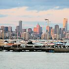 View of Melbourne from Williamstown, Melbourne,Victoria. by elphonline