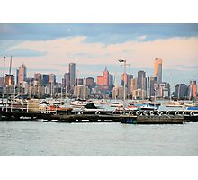 View of Melbourne from Williamstown, Melbourne,Victoria. Photographic Print