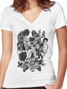 bush walk Women's Fitted V-Neck T-Shirt