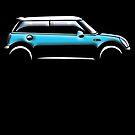 MINI, CAR, BLUE, BMW, BRITISH ICON, BRITAIN, UK, MOTORCAR by TOM HILL - Designer