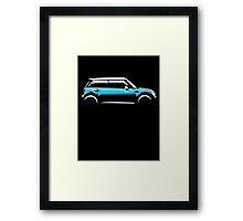MINI, CAR, BLUE, BMW, BRITISH ICON, MOTORCAR Framed Print