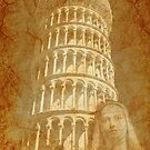 Grunge Saint and Tower, Tuscany Italy by Madeleine Forsberg