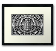 Aztec Time Lord Black and white Pencils sketch Art Framed Print
