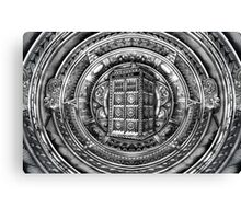 Aztec Time Lord Black and white Pencils sketch Art Canvas Print
