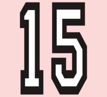 15, TEAM SPORTS, NUMBER 15, FIFTEEN, FIFTEENTH, Competition,  Kids Clothes