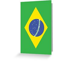 BRAZIL, BRAZILIAN FLAG, Flag of Brazil, Portrait, Football, Sport, Olympics, Pure & Simple Greeting Card