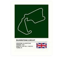 Silverstone Circuit - v2 Art Print