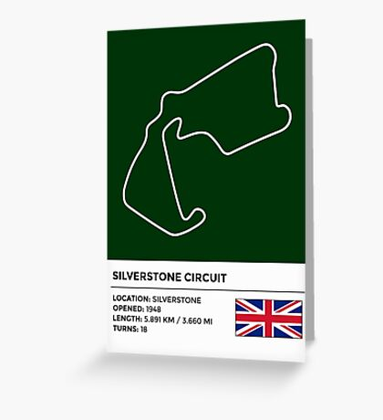 Silverstone Circuit - v2 Greeting Card