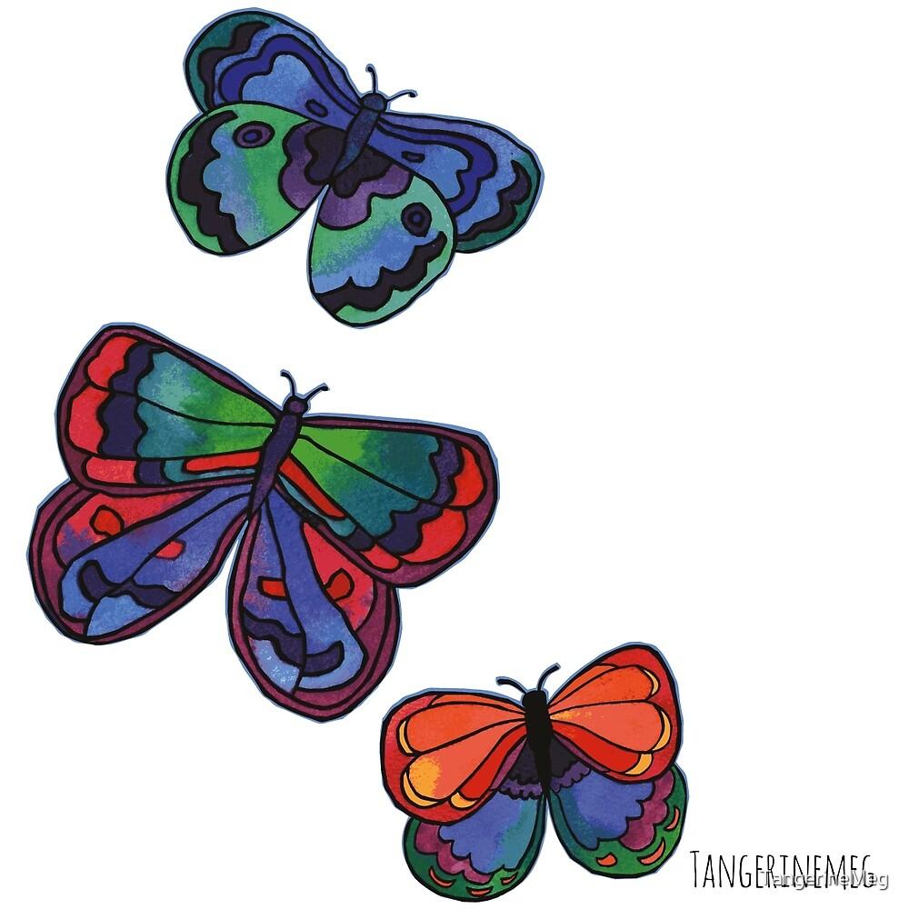 3 Bold Butterflies by TangerineMeg