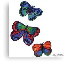 3 Bold Butterflies Canvas Print