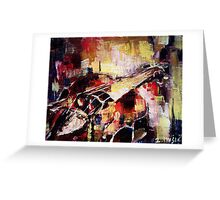 Colorful Violin Greeting Card