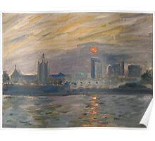 Albany from the Hudson Poster