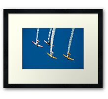 Steep Dive in Formation Framed Print