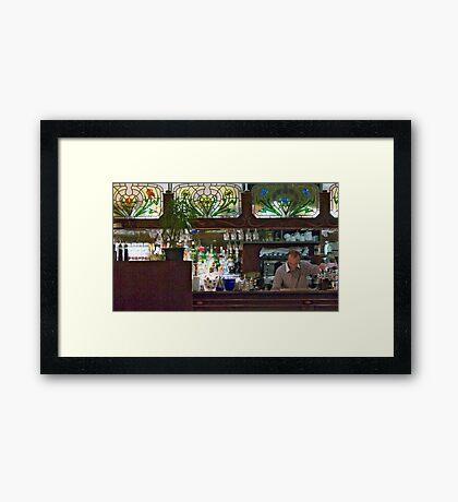 Pub Master Framed Print
