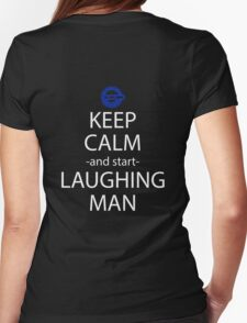 keep calm and start laughing man anime manga shirt Womens Fitted T-Shirt