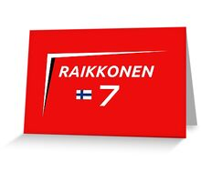 F1 2015 - #7 Raikkonen [v2 Red] Greeting Card