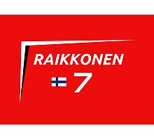 F1 2015 - #7 Raikkonen [v2 Red] Photographic Print
