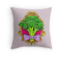 Mister Broccoli Throw Pillow