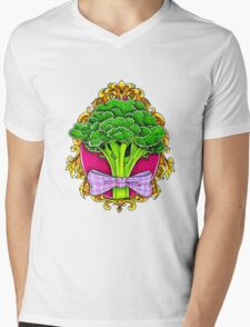 Mister Broccoli Mens V-Neck T-Shirt