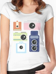 Camera Graphics Women's Fitted Scoop T-Shirt