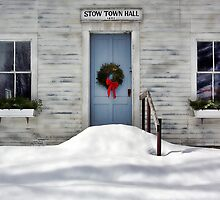 The Stow Town Hall 1842 - Stow,  Maine by T.J. Martin