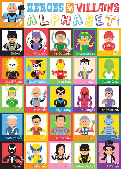 Heroes and Villains Alphabet by Marty Strong