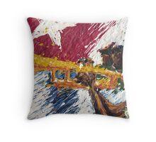Artista de trompeta  Throw Pillow