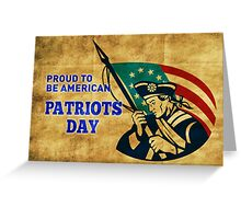 American revolution soldier with betsy ross flag  Greeting Card