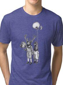Deerboy and Alpacaboy at the fun fair Tri-blend T-Shirt
