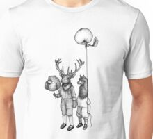 Deerboy and Alpacaboy at the fun fair Unisex T-Shirt