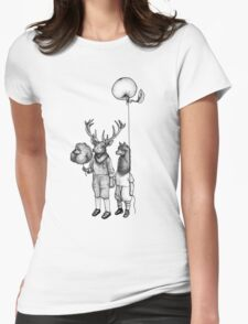 Deerboy and Alpacaboy at the fun fair Womens Fitted T-Shirt