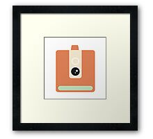 CAmera graphic Framed Print