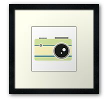 green camera graphic Framed Print