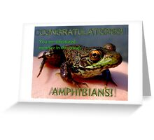 Amphibians featured member banner Greeting Card