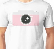 Pink Camera Graphic Unisex T-Shirt