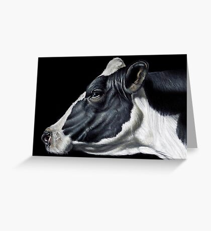 Holstein Friesian Dairy Cow Portrait Greeting Card