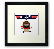 Top Pug Dog Framed Print