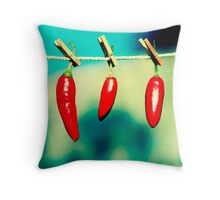 One hot family Throw Pillow