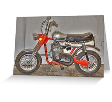 Old Scrambler Bike Greeting Card