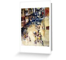 Old city marketplace Greeting Card