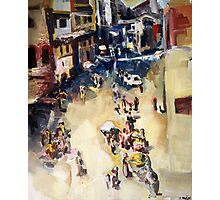 Old city marketplace Photographic Print